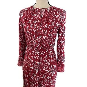 Loft Outlet Dress Red Size Small Button Front